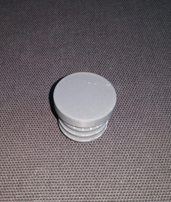 Platte dop grijs